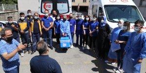 """Erzurum'da sağlık ekiplerinin evlerde """"çat kapı"""" aşı mesaisi"""