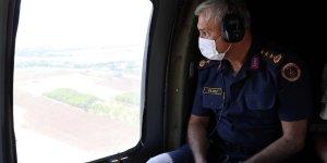 Elazığ'da jandarma ve polis ekipleri helikopterle trafik denetimi yaptı