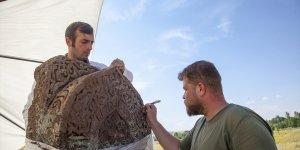 Selçuklu Meydan Mezarlığı'nda kemer işlemeli mezar taşı tespit edildi