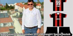 Hayırsever iş adamından 1071 Malazgirt Spor'a destek
