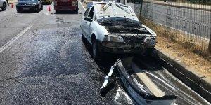 Bingöl'de taksi ile otomobil çarpıştı: 4 yaralı