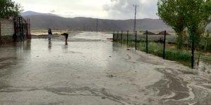 Ağrı'da sel nedeniyle yol ve tarım arazileri zarar gördü