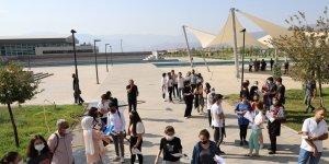 Erzincan'da güzel sanatlar için özel yetenek sınavları yapıldı