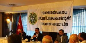 TÜDKİYEB bölge toplantısı Ağrı'da düzenlendi