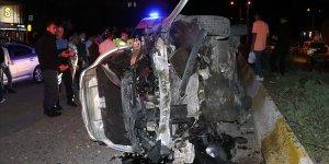 Ağrı'da iki otomobilin çarpıştığı kazada bir kişi yaralandı