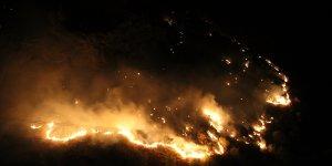 Şemdinli'de çıkan orman yangınına müdahale ediliyor
