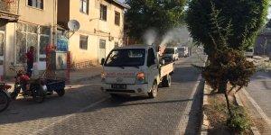 Baskil Belediyesi haşerelere karşı ilaçlama yapıyor