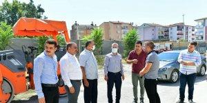 Çınar, Çavuşoğlu Mahallesindeki yol yenileme hizmetlerini inceledi