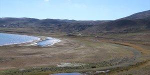 Kuraklık 'Ağrı'nın saklı cennet'i Balık Gölü'nü de vurdu