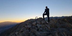 Türkiye'nin ilk ve tek solo alpinisti Erdek Cennet, Munzur Dağlarının zirvesine tırmandı