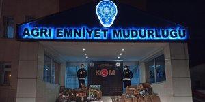 Ağrı'da evinde kaçak sigara yapıp sattığı iddia edilen zanlı yakalandı