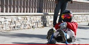 Tekerlekli kızak yarışları Erzurum'da nefesleri kesecek