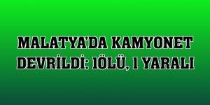 Malatya'da kamyonet devrildi: 1ölü, 1 yaralı
