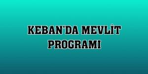 Keban'da mevlit programı