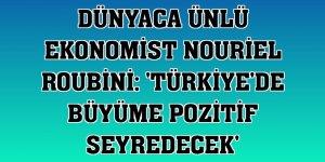 Dünyaca ünlü ekonomist Nouriel Roubini: 'Türkiye'de büyüme pozitif seyredecek'