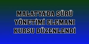Malatya'da sürü yönetimi elemanı kursu düzenlendi