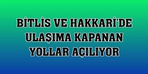 Bitlis ve Hakkari'de ulaşıma kapanan yollar açılıyor
