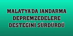 Malatya'da jandarma depremzedelere desteğini sürdürdü