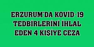 Erzurum'da Kovid-19 tedbirlerini ihlal eden 4 kişiye ceza