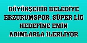Büyükşehir Belediye Erzurumspor, Süper Lig hedefine emin adımlarla ilerliyor