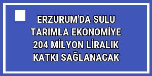 Erzurum'da sulu tarımla ekonomiye 204 milyon liralık katkı sağlanacak