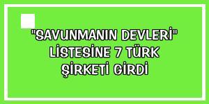 'Savunmanın devleri' listesine 7 Türk şirketi girdi