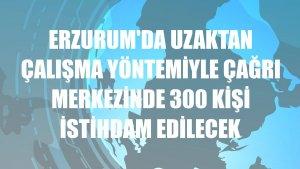 Erzurum'da uzaktan çalışma yöntemiyle çağrı merkezinde 300 kişi istihdam edilecek