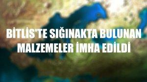 Bitlis'te sığınakta bulunan malzemeler imha edildi