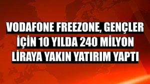 Vodafone Freezone, gençler için 10 yılda 240 milyon liraya yakın yatırım yaptı