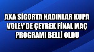 AXA Sigorta Kadınlar Kupa Voley'de çeyrek final maç programı belli oldu