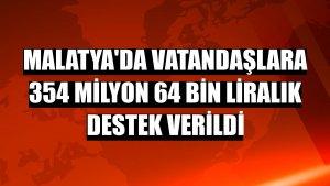 Malatya'da vatandaşlara 354 milyon 64 bin liralık destek verildi