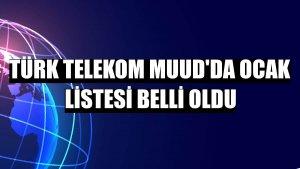 Türk Telekom Muud'da ocak listesi belli oldu