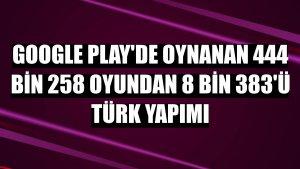 Google Play'de oynanan 444 bin 258 oyundan 8 bin 383'ü Türk yapımı