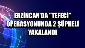 """Erzincan'da """"tefeci"""" operasyonunda 2 şüpheli yakalandı"""