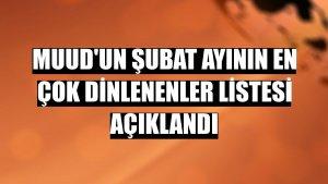 Muud'un şubat ayının en çok dinlenenler listesi açıklandı