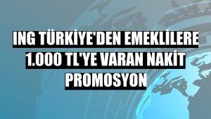 ING Türkiye'den emeklilere 1.000 TL'ye varan nakit promosyon