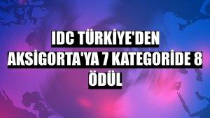 IDC Türkiye'den Aksigorta'ya 7 kategoride 8 ödül