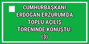 Cumhurbaşkanı Erdoğan Erzurum'da toplu açılış töreninde konuştu: (3)