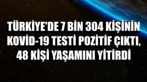 Türkiye'de 7 bin 304 kişinin Kovid-19 testi pozitif çıktı, 48 kişi yaşamını yitirdi
