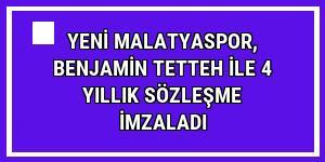 Yeni Malatyaspor, Benjamin Tetteh ile 4 yıllık sözleşme imzaladı