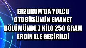 Erzurum'da yolcu otobüsünün emanet bölümünde 7 kilo 250 gram eroin ele geçirildi