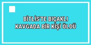 Bitlis'te bıçaklı kavgada bir kişi öldü