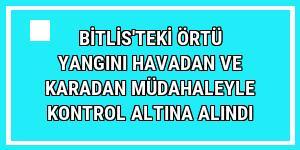 Bitlis'teki örtü yangını havadan ve karadan müdahaleyle kontrol altına alındı