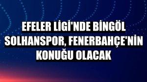 Efeler Ligi'nde Bingöl Solhanspor, Fenerbahçe'nin konuğu olacak
