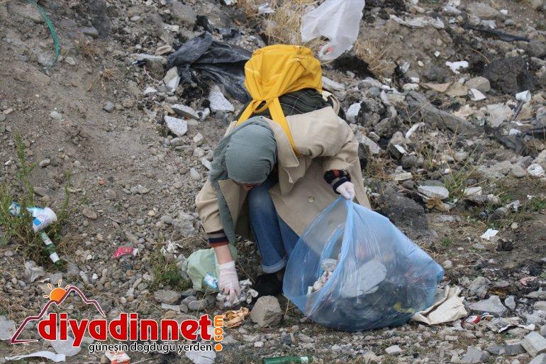 Gönüllüler farkındalık için temizlik yaptı - AĞRI9