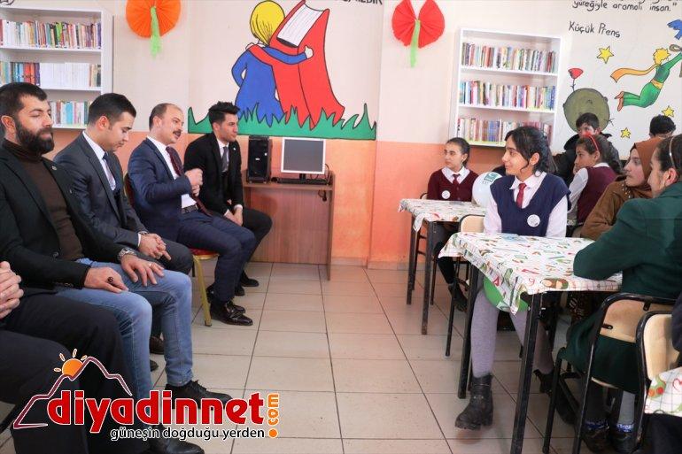 açıldı okuluna köy Ağrı'da kütüphane 2