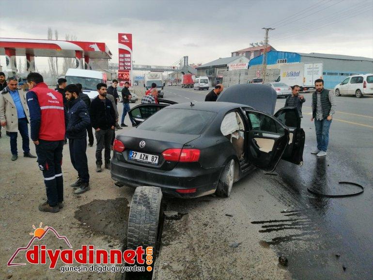 Ağrı'da trafik kazasında bir kişi yaralandı