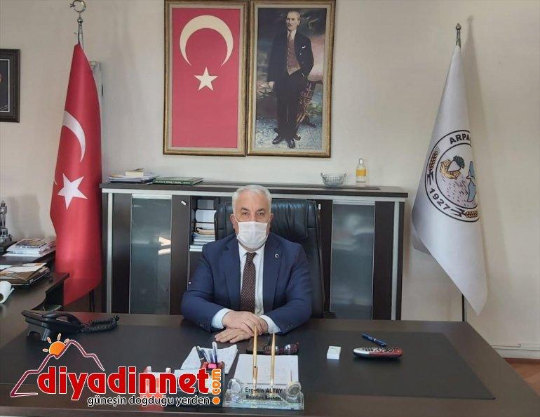 Arpaçay Belediye Başkanı Altay'dan Milli Dayanışma Kampanyası'na destek