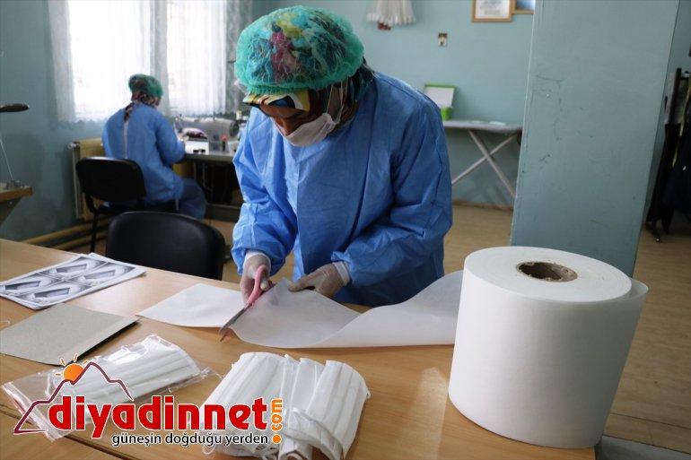 gönüllü çalışanları için ve sağlık maske Ağrılı kadınlar, üretiyor grubu Vefa 2