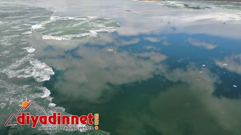 BİTLİS Gölü'nde oluştu görüntüler güzel Nazik Buzları - çözülen 7